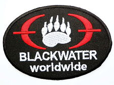 Special Forces BLACKWATER Security Iron On Embroidered Shirt Jeans Badge Patch