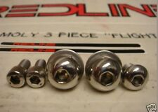 REDLINE 401 Flight Cranks POLISHED Hardware & Decals OLD SCHOOL BMX