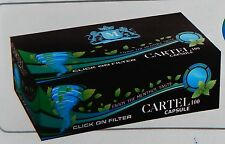 CARTEL 100 Click on filter Capsule Menthol Cigarette Tubes Filter 20mm