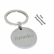 Disc Circle Personalised Keyring any name or date birthday Anniversary Key Gift