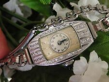 1930 Ladies Art Deco Bulova Watch ~ Runs