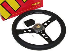 MOMO Steering Wheel - Prototipo (350mm/Leather/White Stitch/Black Spoke)