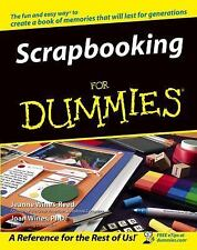 Scrapbooking for Dummies by Joan Wines and Jeanne Wines-Reed (2004, Paperback)