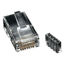 Crimp Plug RJ45 Cat 6 Shielded Plug 50u with Load Bar for STP Cable ! Pack of 50