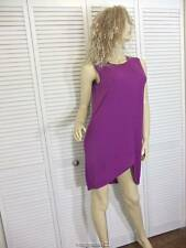 NWT-$125 DKNY Donna Karan New York DRESS SML SLEEVELESS AMETHYST HIGH LOW HEM