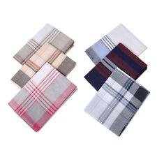 6x Men Cotton Square Handkerchiefs Classic Pattern Vintage Pocket Handkerchiefs