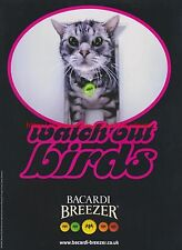 "Bacardi Breezer ""Watch Out Birds"" 2001 Magazine Advert #7541"