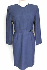 Valentino Vintage Navy blue checkered dress Uk 12-14  US 12