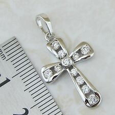 magic hot nice white cross CZ gems jewelry gold filled pendants p195