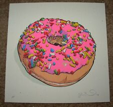THE SIMPSONS poster print MMMM DONUTS Homer fictional food Joshua Budich