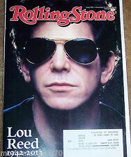LOU REED ISSUE 1196 NOVEMBER 21, 2013 ROLLING STONE MAGAZINE NAYA RIVERA ON BACK