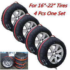 """4X Car Off Road Spare Tyre Tire Protection Cover 16""""-22"""" Carry Tote Storage Bags"""
