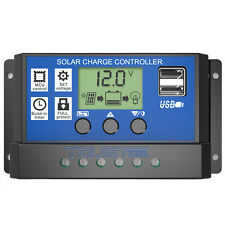 LCD 20A Solar Panel Battery Charge Controller Regulator Auto Adapt 12V/24V /USB