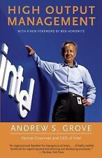 High Output Management by Andrew S. Grove (1995, Paperback)