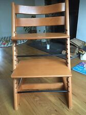 Stokke Tripp Trapp high chair in cherry wood