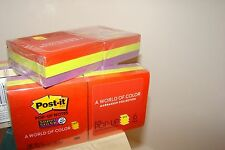 "Post-it Super Sticky Pop-up Notes, 3"" x 3"", Assorted, 90 Sheets Per Pad, 6 Pack"