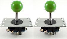 2 x haut de style sanwa Boule Arcade joysticks, 8 way (vert) - Mame, jamma