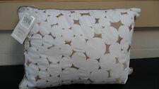 SERNE LAVA WHITE & WHITE DETAIL BOUDOUR FILLED SCATTER CUSHION 40CM X 30CM