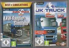 Uk truck simulator + Euro camion spécial camion chariots simulateur collection pc