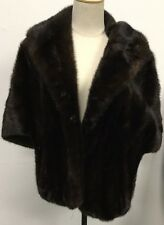 JULIUS GARFINCKEL & CO. BROWN FUR SHORT COAT OR SHAWL