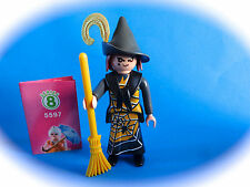 Playmobil  Figures Serie 8 Bruja con escoba wiych with broom Hexe sourciere 5596