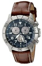 Citizen BL5250-02l Men's Eco Drive Leather Titanium Perpetual Calendar Watch