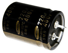 5x 220uF 400V Radial Snap In Mount Electrolytic Aluminum Capacitor mfd DC