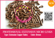Keratin Fusion PreBonded I tip Human Hair Extension Micro Link Copper Tubes-300
