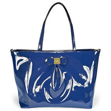 Kate Spade New York Veranda Place Patent Blossom Baby Bag - French Navy