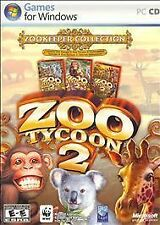 Zoo Tycoon 2 Zookeeper Collection - PC CD-ROM Game 2006 Complete 3 Discs Rare