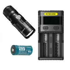 Nitecore EC11 900Lm Flashlight -Includes SC2 Charger & 1x RCR123A Battery