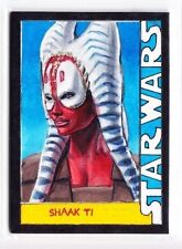 2015 Topps Star Wars Masterwork Shaak Ti Framed Sketch by Chris Henderson (1/1)