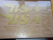 BSA  style Gold or Silver  Stickers
