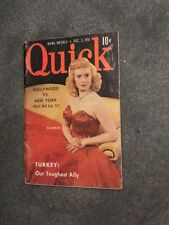 QUICK NEWS WEEKLY - DECEMBER 3, 1951 - NICE VINTAGE CONDITION