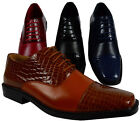 MEN'S GIOVANNI DRESS SHOES FORMAL OXFORD POINTY LACE UP STYLE WING TIP WEDDING