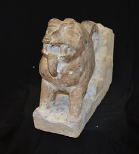 A antique Indian Central Asian feline stone carving 17th century or earlier
