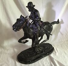 "Vintage Bronze ""Trooper Of The Plains"" Statue By Frederic Remington 20""H.Signed"