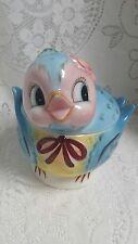 Vintage Lefton Norcrest Bluebird Blue Bird Cookie Jar