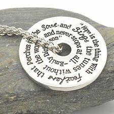 "Quote jewellery, Hope Necklace in Silver - Emily Dickinson ""Hope is the thing wi"
