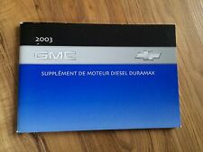 2003 GMC French Owner's Manual