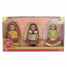 MATTEL TOYS KELLY IN INDIA GIFT SET of 3 (Color May Vary)Kelly Barbie Dolls RG