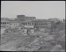 Glass Magic Lantern Slide GENERAL VIEW OF THE COLOSSEUM ROME C1900 ITALY PHOTO