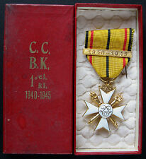 Belgian WWII King Leopold III 1st Class Civil Decoration With 1940-1945 Bar