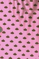 Candy Kisses on Pink Novelty Food Candy Jar Quilt Fabric Fat Quarter FQ FQs