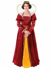 Ladies Queen Elizabeth Medieval Tudor Royal Fancy Dress Costume
