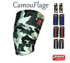 2fit Genou Wraps camo weightlifting formation Jambe Genou Bandage Sangle Camouflage
