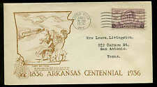 782 ARKANSAS  FDC LITTLE ROCK, AR PLANTY #P56a DEE'S STAMP HOUSE CACHET