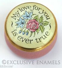 Crummles Enamels My Love For You Is Ever True Enamel Box