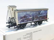 Märklin H0 Flachdachwagen mit Bremserhaus Info-Tage 1999 OVP (Q37)