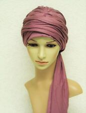 Volume turban, turban hat with long ties, chemo head wear, bad hair day scarf